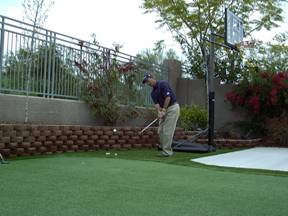 putting grass installation